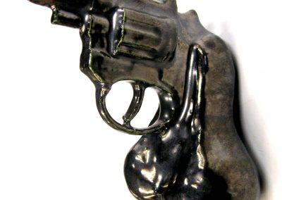 sculpture of Trigger Happy Series: Revolver
